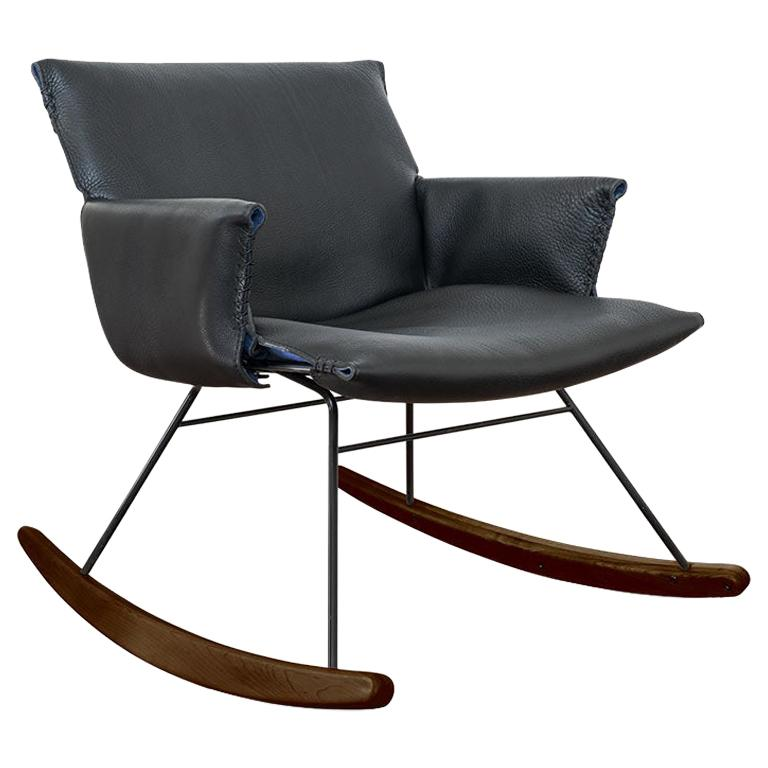 De Sede DS 515 Rocking Char in Grey Upholstery by Greutmann Bolzern
