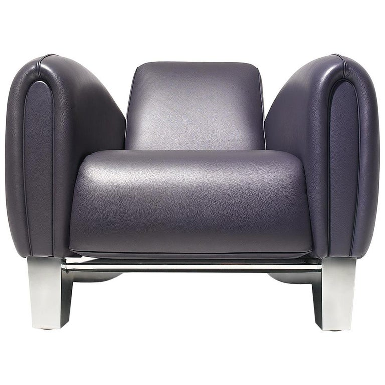 De Sede DS 57 Armchair in Umbra Upholstery by Franz Romero For Sale