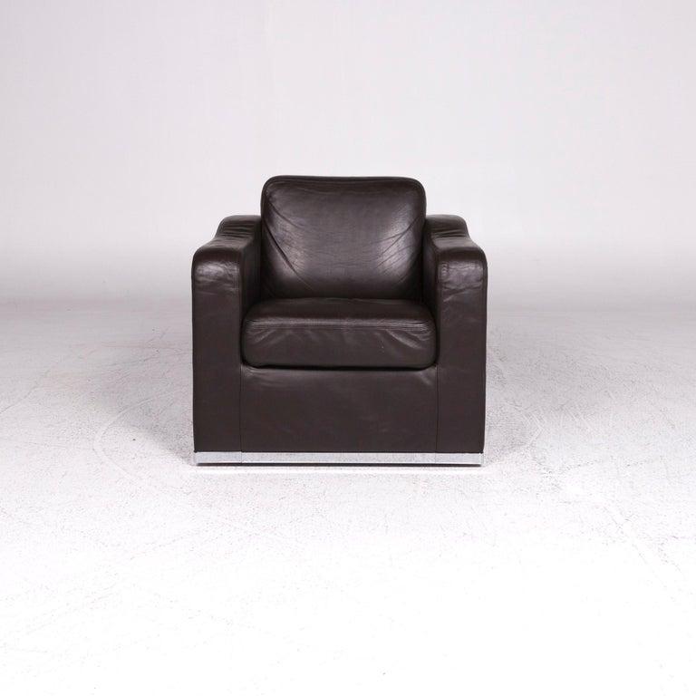 Swiss De Sede DS 6 Leather Armchair Brown