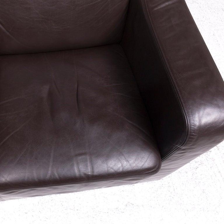 Contemporary De Sede DS 6 Leather Armchair Brown