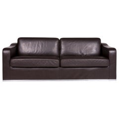 De Sede Ds 6 Leather Sofa Brown Two-Seat Couch