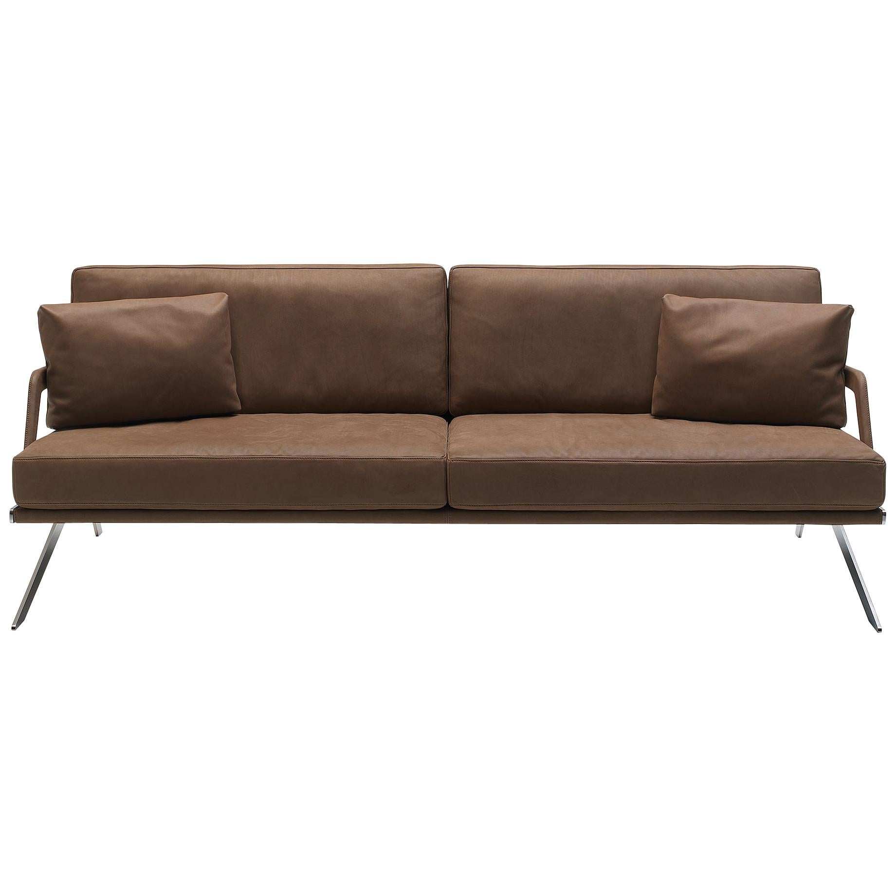 De Sede DS-60/03 Sofa in Brown Leather Upholstery by Gordon Guillaumier