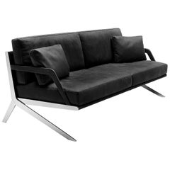 De Sede DS-60/23 Sofa in Black Leather Upholstery by Gordon Guillaumier