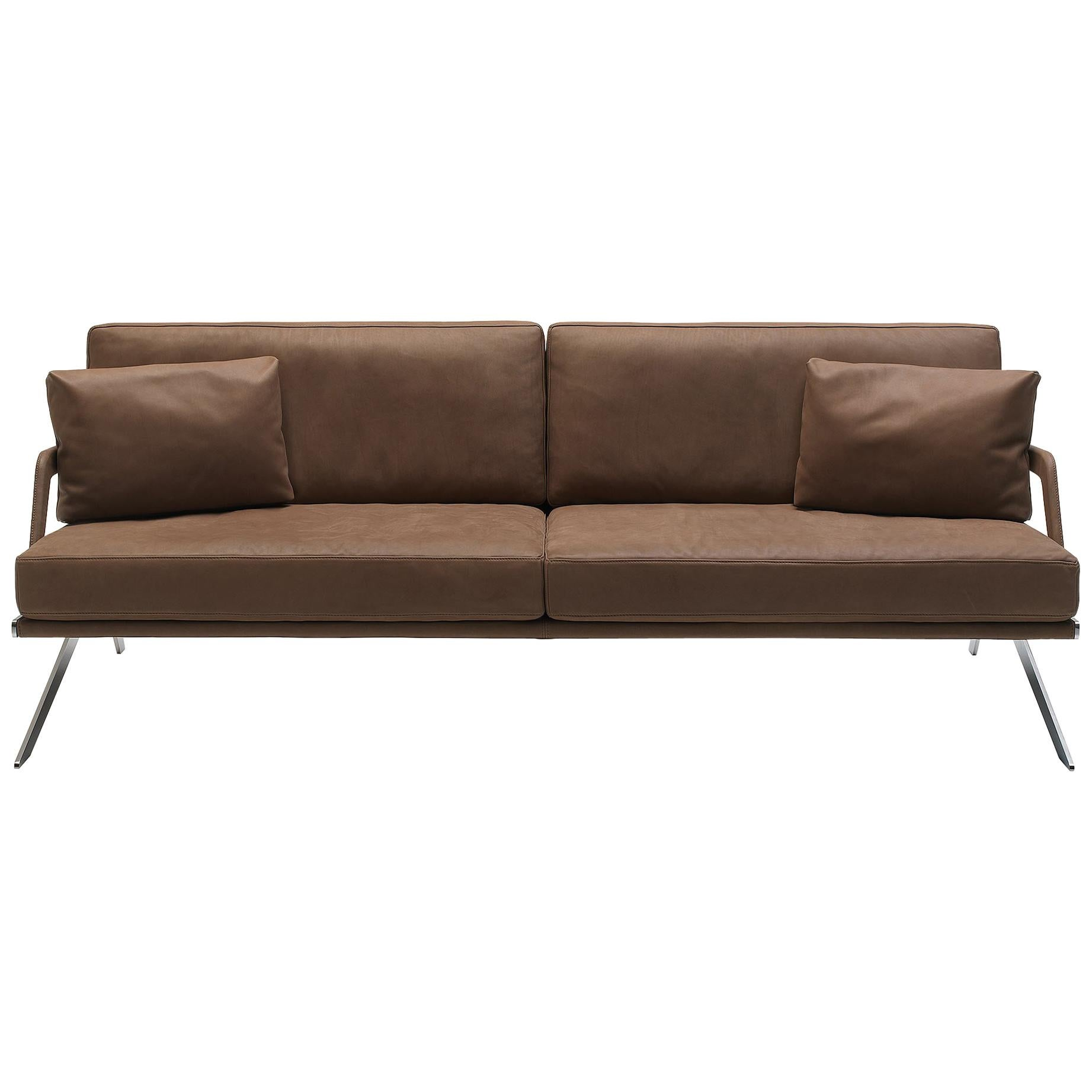 De Sede DS-60/23 Sofa in Brown Leather Upholstery by Gordon Guillaumier