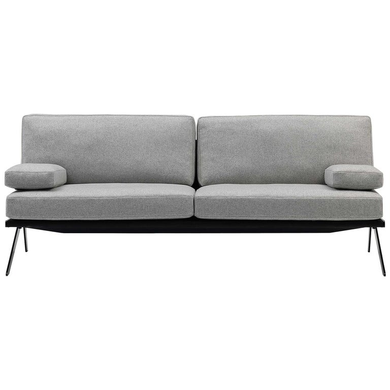 De Sede DS-60/52 Sofa in Grey Fabric by Gordon Guillaumier For Sale