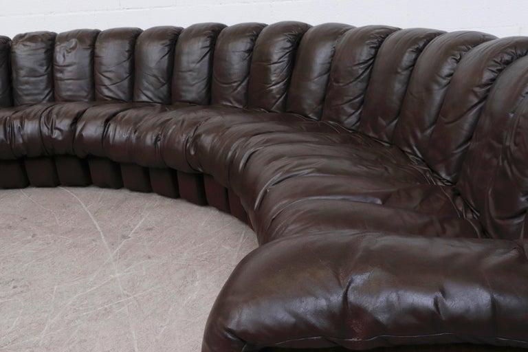 De Sede 'DS 600' Non-Stop 26 Section Sofa by De Sede 3
