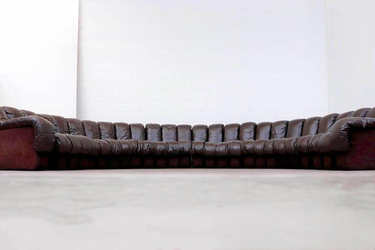 Mid-Century Modern De Sede 'DS 600' Non-Stop 26 Section Sofa by De Sede