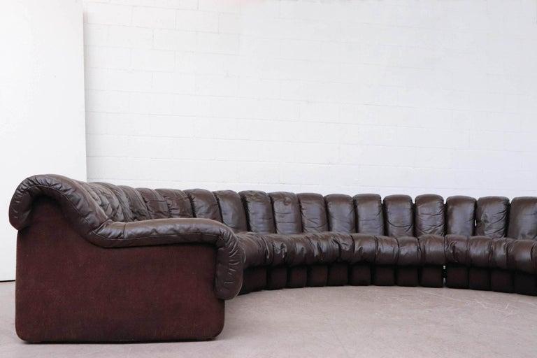 Late 20th Century De Sede 'DS 600' Non-Stop 26 Section Sofa by De Sede