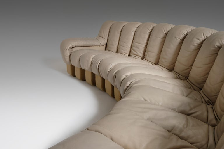 Metal De Sede DS 600 'Non Stop' Sectional Sofa in Beige Leather