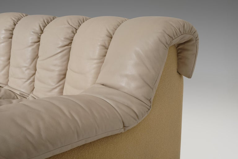 De Sede DS 600 'Non Stop' Sectional Sofa in Beige Leather 1