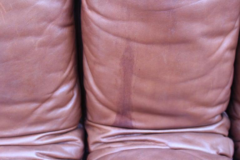 De Sede DS-600 Non Stop Sofa Switzerland 1970s in Cognac Leather For Sale 7