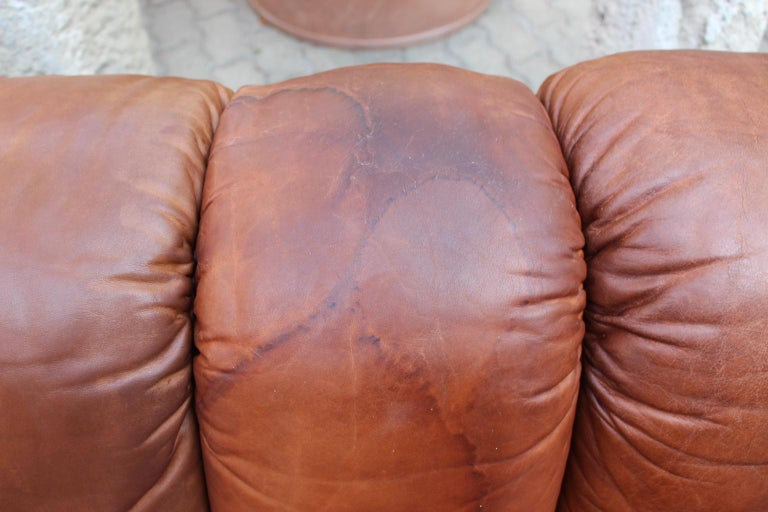 De Sede DS-600 Non Stop Sofa Switzerland 1970s in Cognac Leather For Sale 10