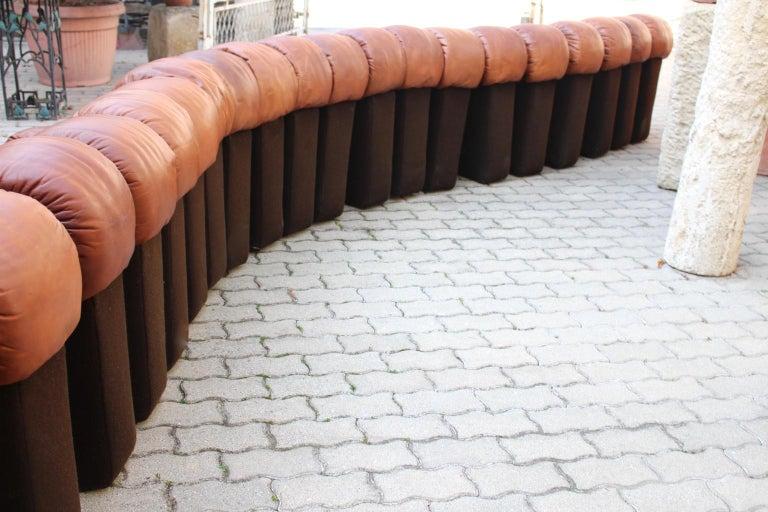 De Sede DS-600 Non Stop Sofa Switzerland 1970s in Cognac Leather For Sale 1