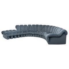 De Sede DS-600 Snake-Shape Modular Sofa in Blue with Adjustable Elements