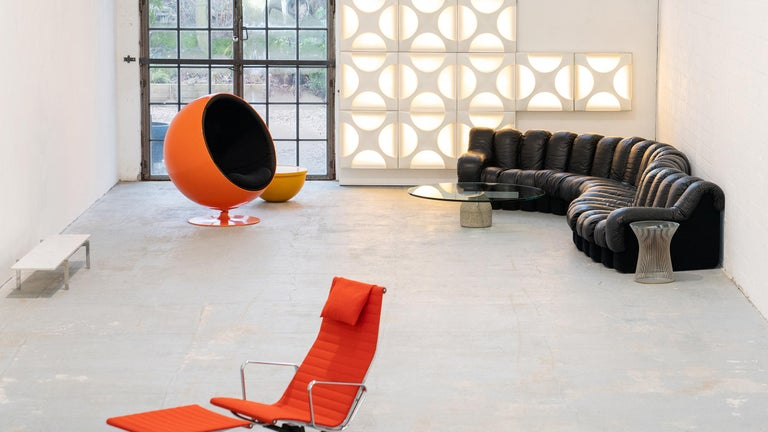 De Sede DS 600 Sofa by Ueli Berger Riva 1972, Black Leather 20 Elements 13