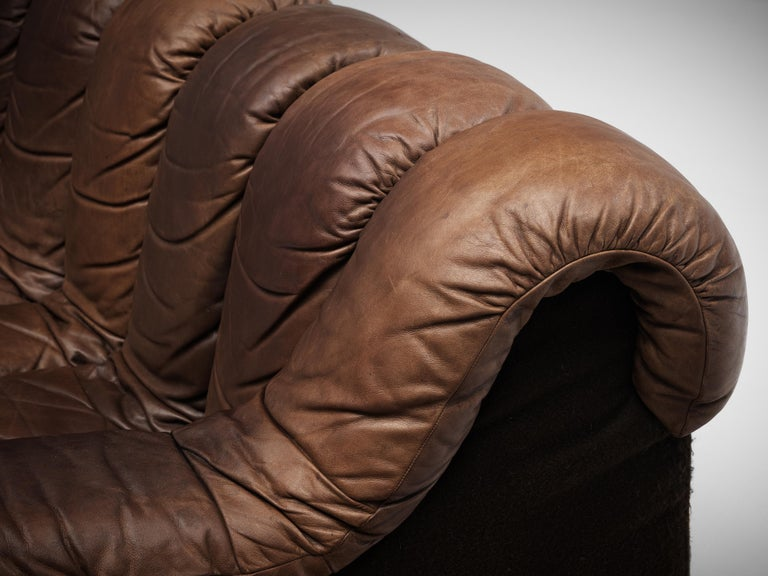 De Sede DS-600 Sofa in Brown Leather For Sale 4