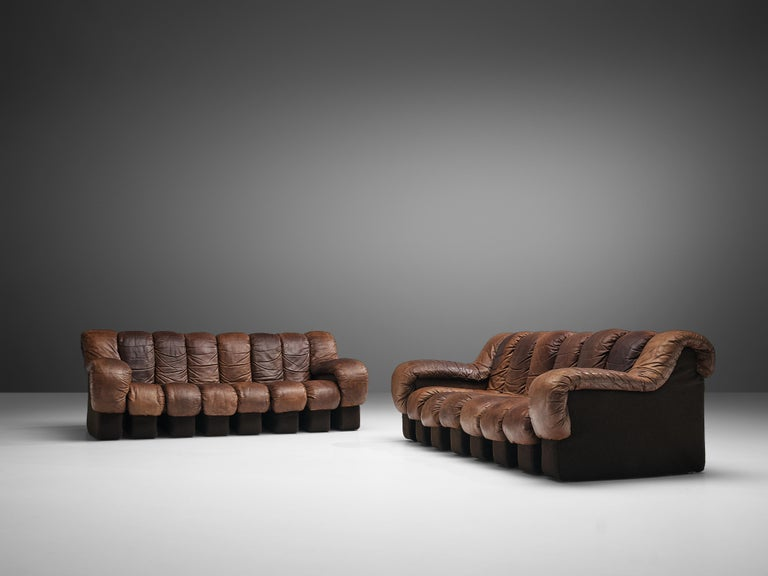 De Sede DS-600 Sofa in Brown Leather For Sale 5