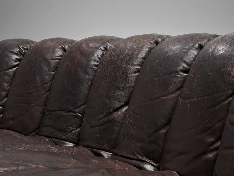 De Sede DS-600 Sofa in Brown Leather For Sale 6