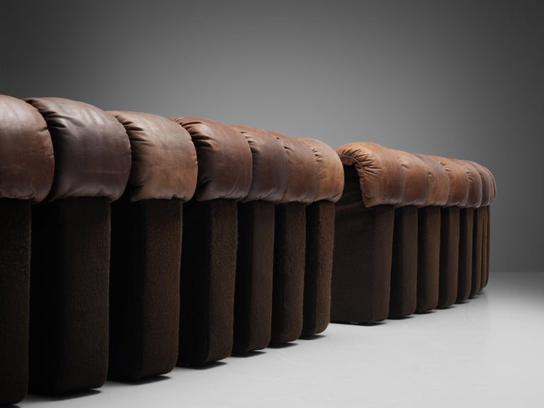 Late 20th Century De Sede DS-600 Sofa in Brown Leather For Sale