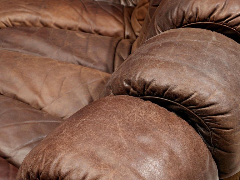 De Sede DS-600 Sofa in Brown Leather For Sale 1