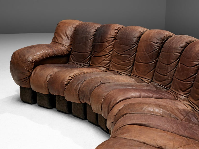 De Sede DS-600 Sofa in Brown Leather For Sale 3