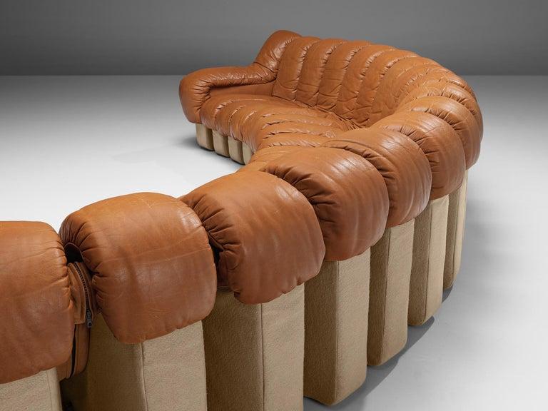 De Sede DS-600 Sofa in Cognac Leather For Sale 4