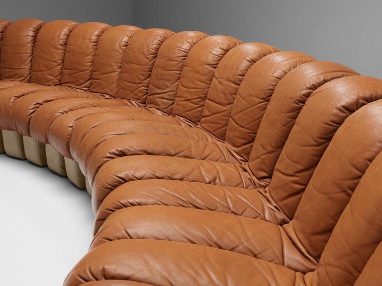 De Sede DS-600 Sofa in Cognac Leather For Sale 5