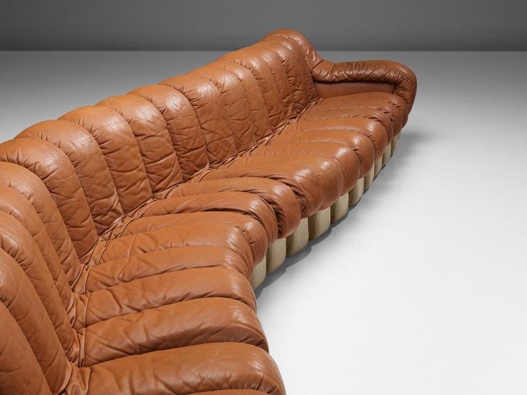 De Sede DS-600 Sofa in Cognac Leather In Good Condition For Sale In Waalwijk, NL