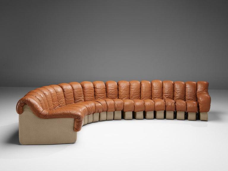 De Sede DS-600 Sofa in Cognac Leather For Sale 2