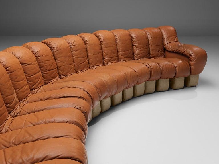 De Sede DS-600 Sofa in Cognac Leather For Sale 3