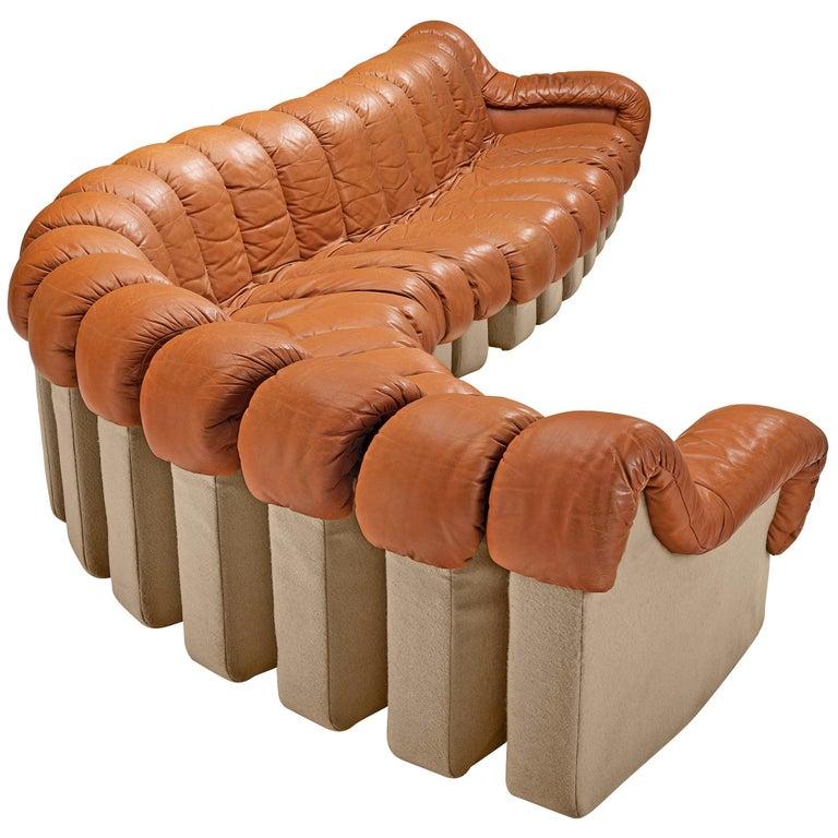 De Sede DS-600 Sofa in Cognac Leather For Sale