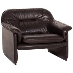 De Sede Ds 61 Leather Armchair Brown Dark Brown