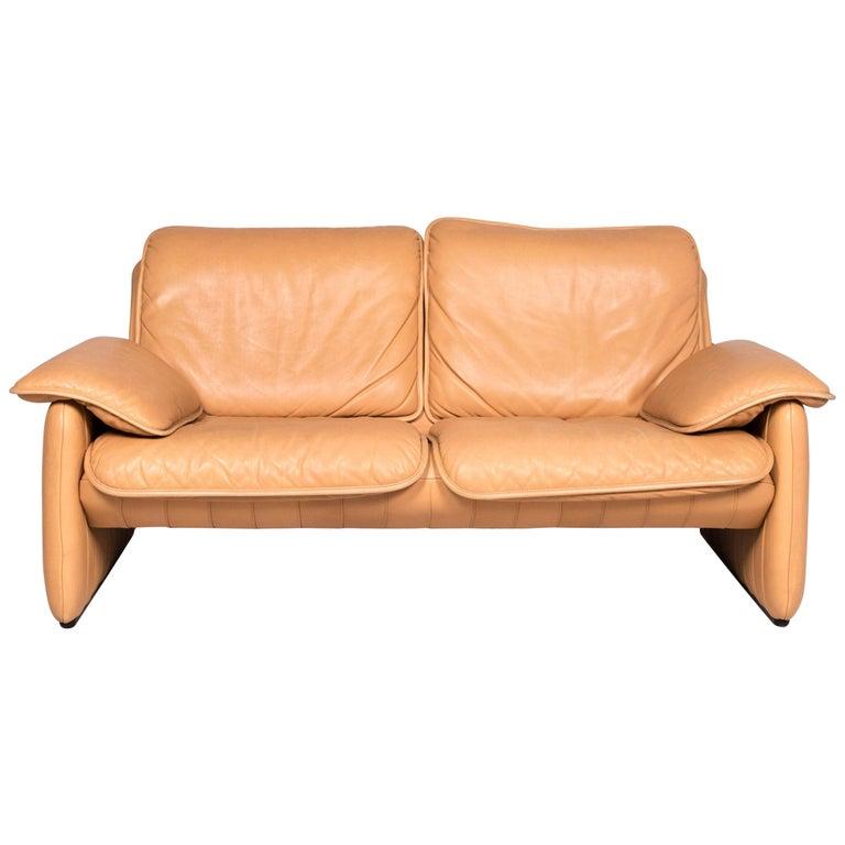 Peachy De Sede Ds 61 Leather Sofa Beige Two Seat Couch Machost Co Dining Chair Design Ideas Machostcouk