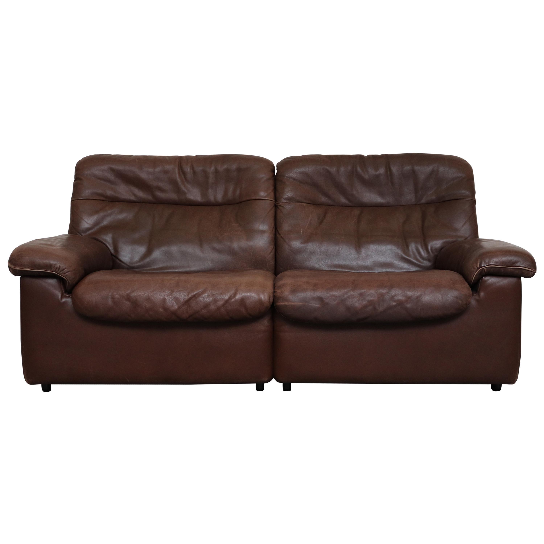 De Sede Ds 66 Braunes Kleines Leder Sofa Bei 1stdibs