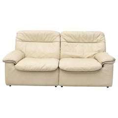De Sede DS 66 Cream Leather Loveseat
