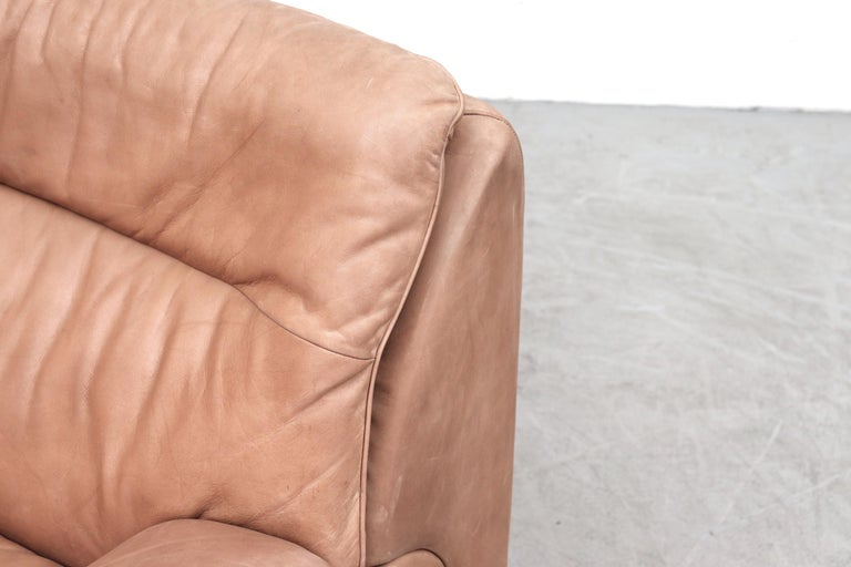 De Sede DS 66 Natural Leather Loveseat For Sale 4