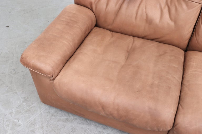 De Sede DS 66 Natural Leather Loveseat For Sale 1