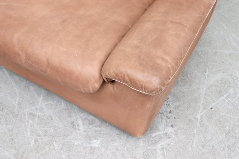 De Sede DS 66 Natural Leather Loveseat For Sale 3