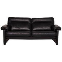De Sede Ds 70 Leather Sofa Black Three-Seater