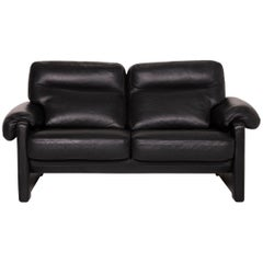 De Sede ds 70 Leather Sofa Black Two-Seater