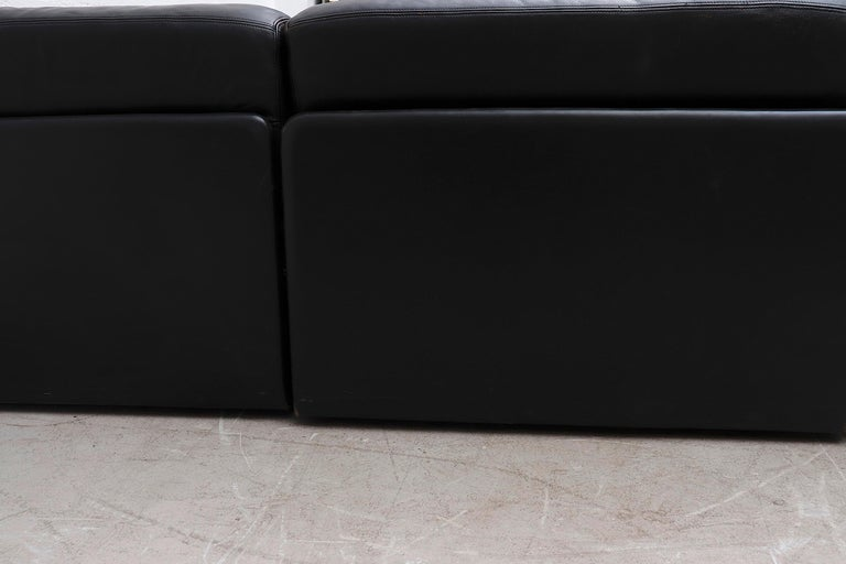 De Sede DS 76 Black Leather 5 Piece Sectional Sleeper Sofa For Sale 10