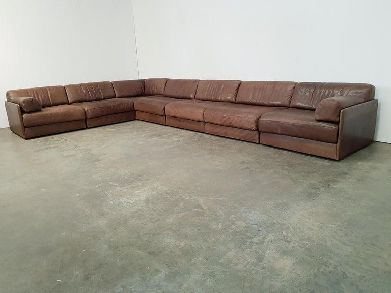 Admirable De Sede Ds 76 Brown Leather Sectional Sofa Uwap Interior Chair Design Uwaporg