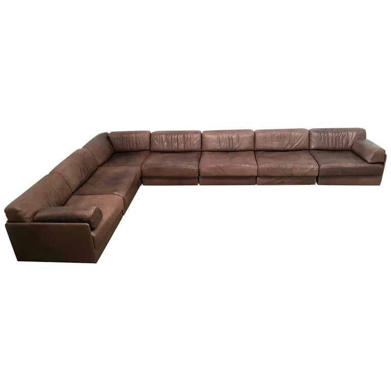 Fabulous De Sede Ds 76 Brown Leather Sectional Sofa Alphanode Cool Chair Designs And Ideas Alphanodeonline