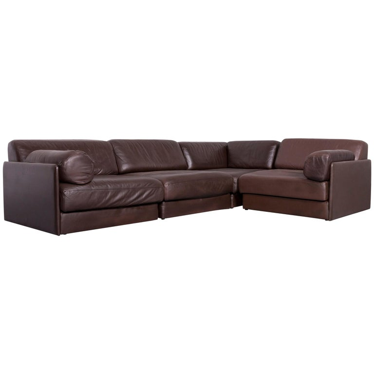 De Sede DS 76 Designer Sofa Brown Leather Corner Couch at 1stdibs