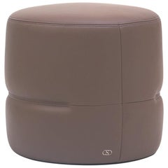 De Sede DS-760 Small Ottoman in Taupe Upholstery by Geckeler Michels