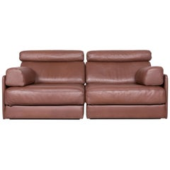 De Sede Ds 77 Designer Leather Sofa Brown Two-Seat Couch