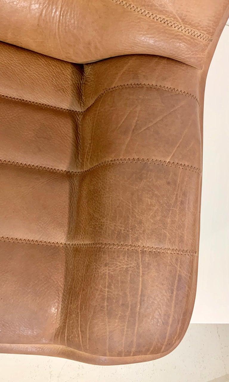 De Sede DS-84 Vintage Thick Buffalo Neck 2-Seat Leather Loveseat Sofa, 1970s For Sale 7