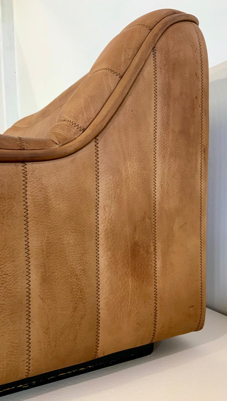 Late 20th Century De Sede DS-84 Vintage Thick Buffalo Neck 2-Seat Leather Loveseat Sofa, 1970s For Sale