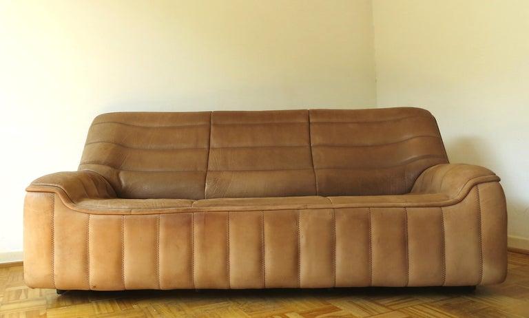 Fabulous De Sede Ds 84 Vintage Thick Buffalo Neck Leather 2 3 Seat Lamtechconsult Wood Chair Design Ideas Lamtechconsultcom