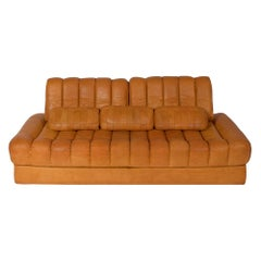 De Sede DS 85 Natural Daybed Leather Sofa / Bed
